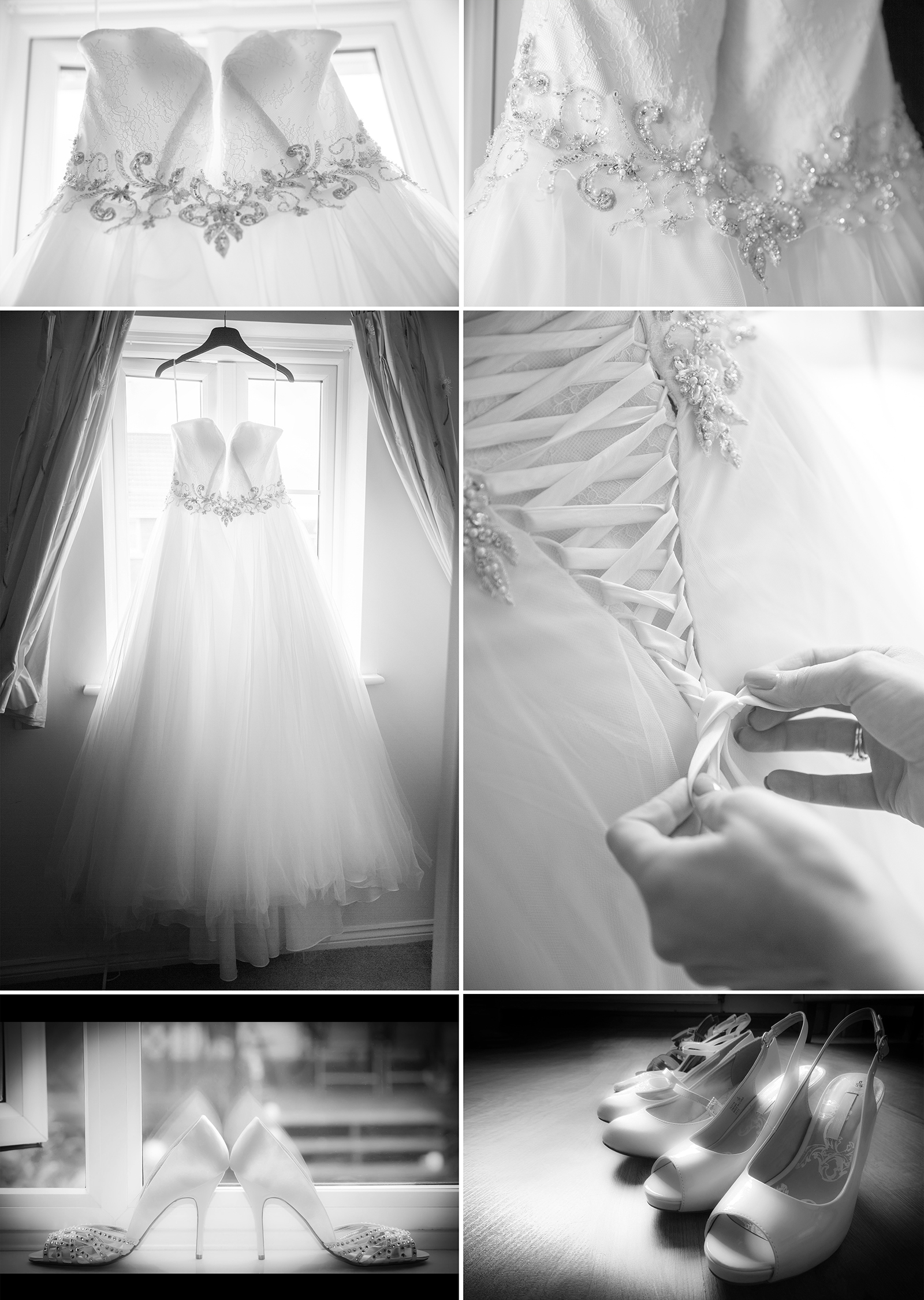 Wedding Dress / Black & White